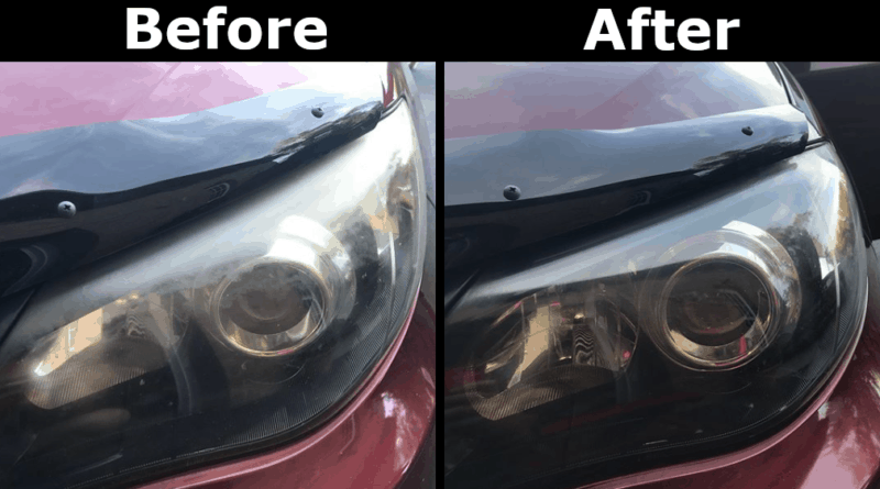 headlight fade before and after