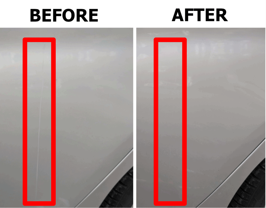 scratch remover before and after