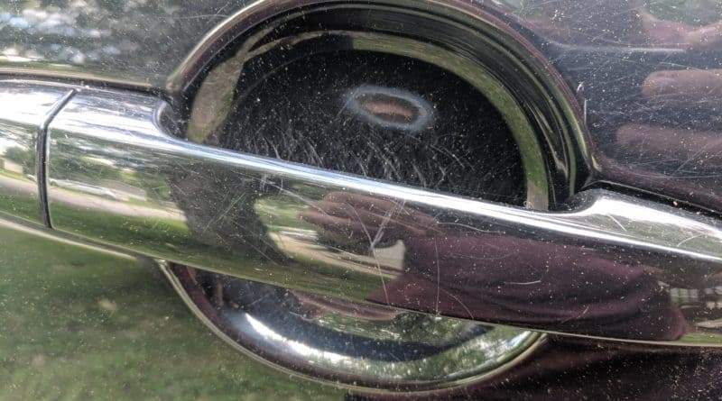 scratched car handle