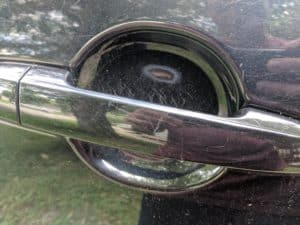 car handle with scratches