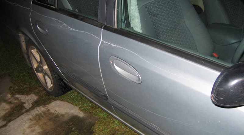 keyed car