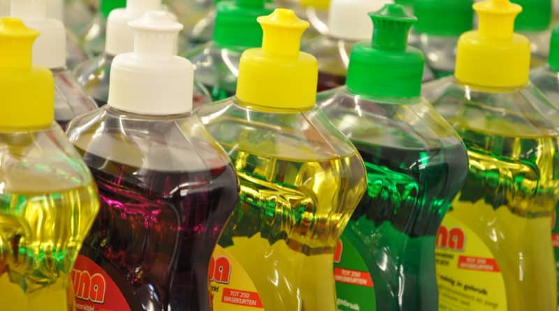 dish soap bottles