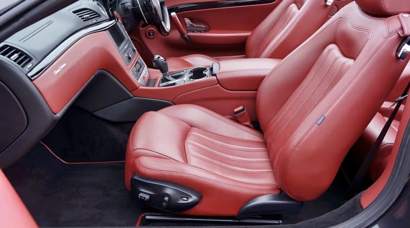 red leather car seats